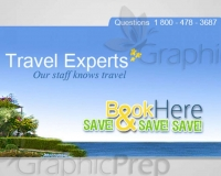 Web Banner Ad Graphics - Travel Experts